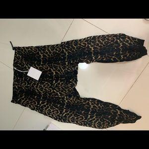 One Teaspoon - Leopard Print Harem Pants Large NWT